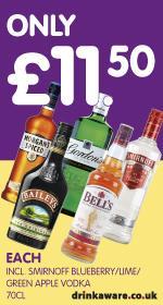 70CL Spirits £11.50 @ Premier Stores