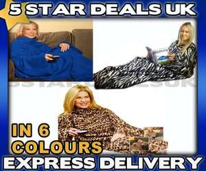 Brand new cuddle fleece snug blankets with sleeves - choice of 6 colours starting from £5.89 Delivered @ 5stardeals-uk97 / Ebay