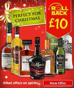 Spirits (7 variates) £10 at ASDA