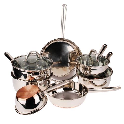 Cuisine Professional 7 piece copper based pan set £45.98 delivered at Bid