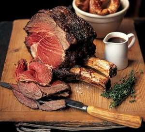 Tesco Beef Bone In Rib Joint - half price now £6.99 / kg