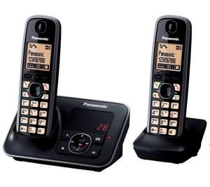 PANASONIC KX-TG6622EB Digital Cordless Phone with Answering Machine - Twin Pack / £31.99 [with code FPHONE20] @ Currys