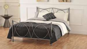 Charlotte Double Size Metal Graphite Bed Frame + Mattress + Duvet + Pillows + Duvet Set - Now only £337.49 delivered @ Bensons for Beds