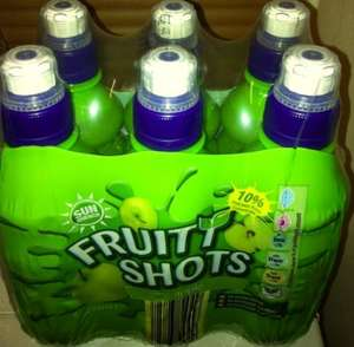 Pack of 6 Fruit Shots juice (250ml bottles each) for just £1.09  @Aldi