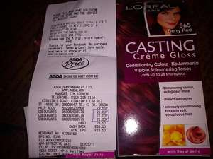 Loreal Casting Creme Gloss HairDye in 565 Berry Red £1 @ Asda