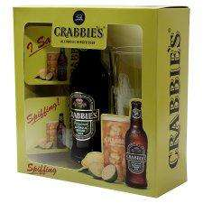 Crabbies gift set - Bottle, glass and coasters - Tesco online & in store £3 - half price