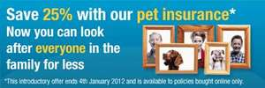 Co-op Pet Insurance 25% off