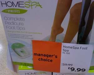 Sainsburys In-store Homespa Pedicure Footspa £9.99 down from £59.99