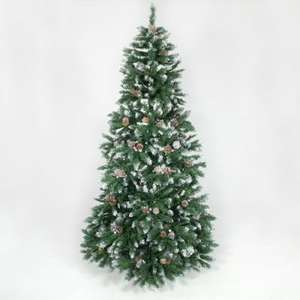 Deluxe 6ft Snow topped Xmas tree (inc. pinecones) £14.99 @ B&M