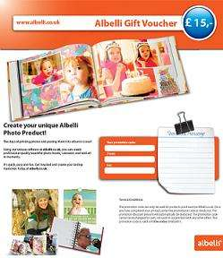 Buy a £50 voucher for just £35 at Albelli.co.uk