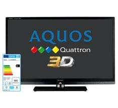Sharp LC40LE831E 40 inch Quattron 3D LED TV - £499 inc one pair glasses