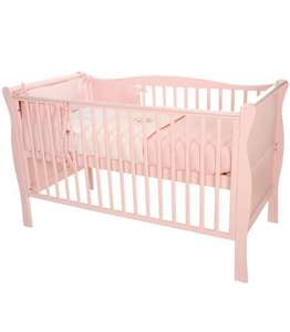 Interiors Collection by Kiddicare Sleigh Cotbed - Funky Pink - was £306.99 now £149.99 @ Kiddicare