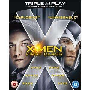 X-Men First Class - Triple Play Bluray - Play.com - £9.99