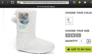 Tatty Teddy (Me to you) Slipper Boots £5 @ New Look