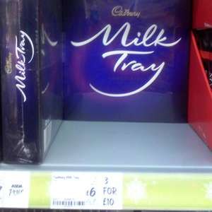 3 x 400g Cadbury Milk Tray Chocolates for £10 @ ASDA