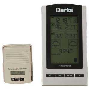 CLARKE WS100 wireless weather station £15.00+£2 del (from £35) @ Tesco Direct