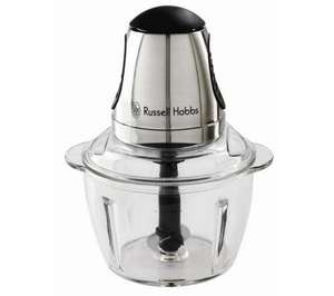 RUSSELL HOBBS 14568 Mini Food Processor - Silver & Glass @ Currys and Amazon £14.89 RRP 49.99
