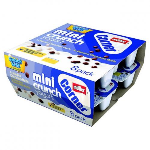 Muller Mini Crunch Yoghurt 8 pack only £1.20 @ Heron