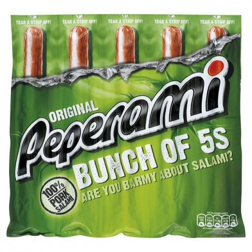 Peperami Pork Salami / Hot Bunch of 5s £1.50 @ Tesco
