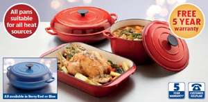 Cast iron casserole and roasting dishes @ALDI