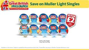 Muller Light Singles - 10 for £2 @ Morrisons