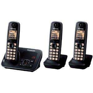 Panasonic KX-TG6623EB Triple Digital Cordless Phone Set with Answer Machine - Black £39.99 @ Amazon