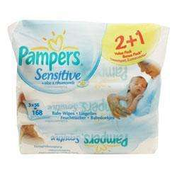 Pampers Wipes Sensitive Refills 2 + 1 Value Pack £1.45 @ OneClickPharmacy