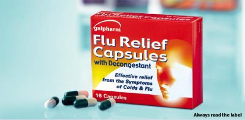 Flu Relief Capsules with Decongestant 49p  16 pack @ ALDI