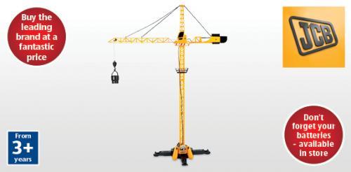 JCB 120cm Remote Control Tower Crane £6.99 instore@ Aldi