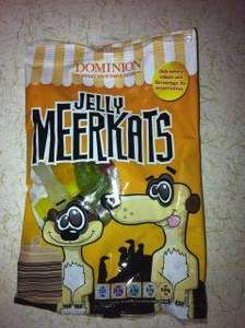 Aldi meerkat jelly sweets 49p for 100g
