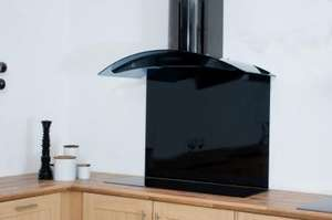 90 x 75cm Black Glass Splashback £59.99 + £10 del @PremierRange.co.uk