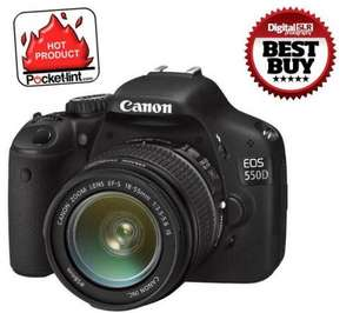 CANON EOS 550D Digital SLR Camera + EF-S 18-55mm Zoom Lens £476.90 @ Dixons + £40 canon cashback