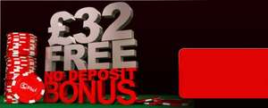 £32 FREE, No Deposit Bonus from 32red.com