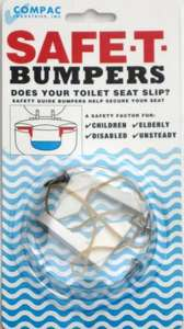 SAFE-T-BUMPERS - SECURE YOUR WOODEN TOILET SEAT £5.25 Delivered @ homeXtras depot / ebay