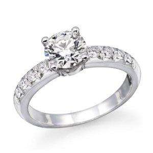 1 ct. Round Diamond Solitaire Engagement Ring in 18k White Gold £999 by natural diamond via amazon
