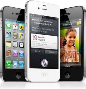Iphone 4s 16gb 300 min unlim text 1gb internet £36 p/m free phone @ Dialaphone