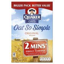 Quaker Oat So Simple Sachets 20 or 16 packets £1.49 Tesco