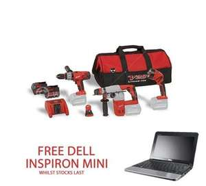 MILWAUKEE M28 PACK G 28V SDS DRILL + COMBI DRILL, 2 BATTERIES, CHARGER, BELT CLIP & CONTRACTORS BAG FREE DELL INSPIRON MINI NETBOOK £749.97 Delivered @ Anglia Tool Centre