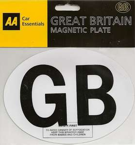 Magnetic GB plates 2p @ Tesco