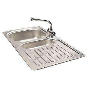 Franke Kitchen Sink & Tap Pack (Stainless Steel 1½ Bowl & Drainer + Mixer) 50% off - £119.99 @ Screwfix