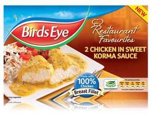 Bird's Eye Chicken in Sweet Korma Sauce, scans @ 50p Tesco