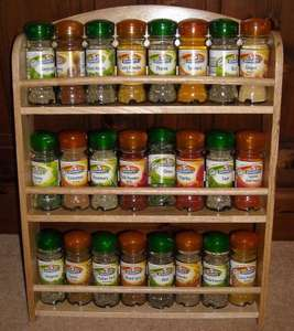 Schwartz Rubberwood Spice Rack with 24 filled spice jars for £9.99 @ LIDL