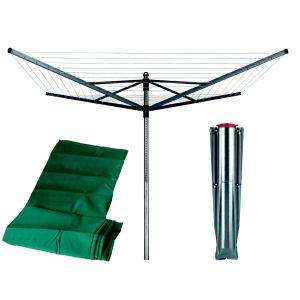 Brabantia Lift-O-Matic Rotary Dryer with 45mm Metal Soil Spear and Cover, 60m, 4 Arms, Metallic Grey only £56.99 @ Amazon