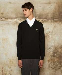 Fred Perry Men's Laurel Wreath Collection - V Neck Lambswool Sweater £28.50  RRP of £95.00
