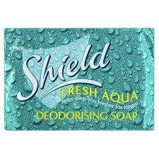 Shield Soap Aqua 4X125g £1 pack of 4 Tesco store and online