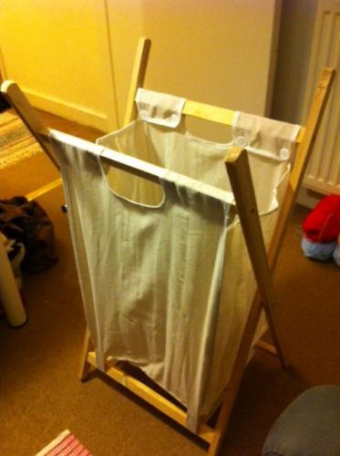 TU Pine & Linen Natural Laundry Basket - Sainsburys instore £2