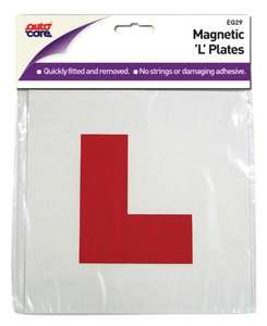 "Magnetic ""L"" plates (autocare) reduced to £1 instore @ asda"