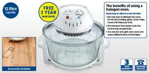 Halogen Oven - Large 12L + 3 year warranty £29.99 @ ALDI
