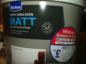 Wickes Vinyl  Emulsion Matt / Silk 10 Litres Reduced to £15 from £22.29