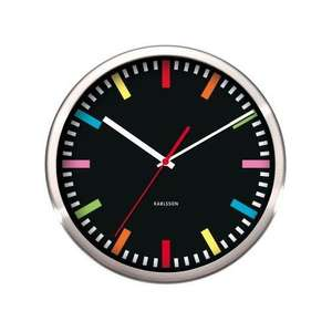 EXPIRED Karlsson Rainbow Black Wall Clock @ Adelbrook for 17.50 plus 3.50 del